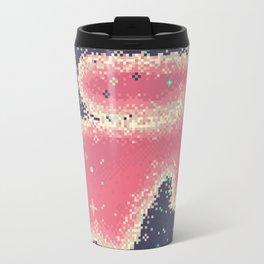 Pink Midnight Galaxy (8Bit) Travel Mug