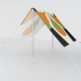 Mid-Century Modern Art 1.4 - Green & Orange Flower Sun Shade