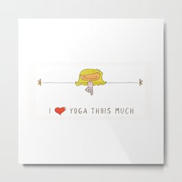 I love yoga girl Metal Print