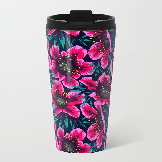 Manuka Floral Print Metal Travel Mug