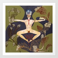 Men in Motion #2 Symmetry Art Print
