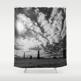 Cemetery Silhouette Shower Curtain