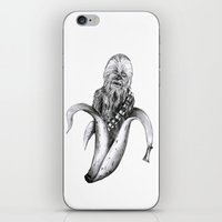 chewbacca iPhone & iPod Skins featuring Chewbacca banana by ronnie mcneil