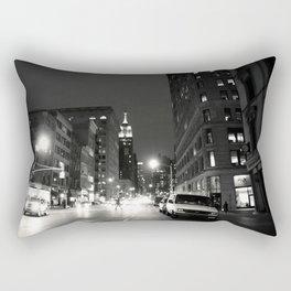 New York City at Night Rectangular Pillow