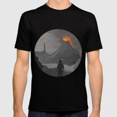 Lord Of The Rings Black Mens Fitted Tee LARGE