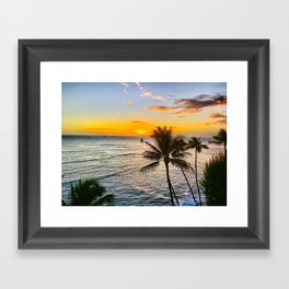 Waikiki Sunset Framed Art Print