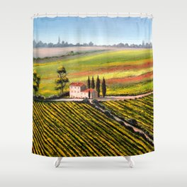 Vineyards In Tuscany Italy Shower Curtain