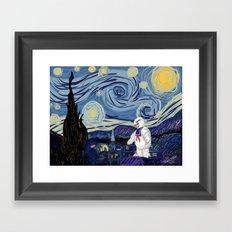 Stay Puff Night Framed Art Print