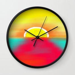 HOT SUNSET Wall Clock