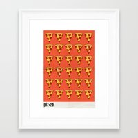 pizza Framed Art Prints featuring PIZZA by Kaitlin Smith