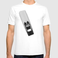 Back To The Future - DeLorean Mens Fitted Tee White MEDIUM