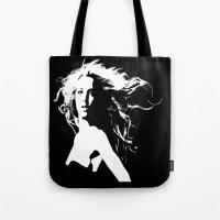 britney Tote Bags featuring Pretty Britney by Dora Birgis