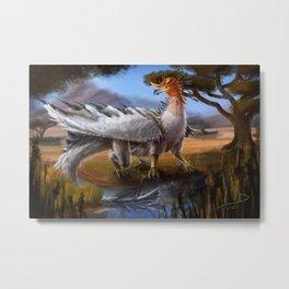 Bird Dragon Metal Print