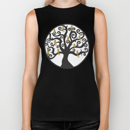 Cat Tree of Life Biker Tank