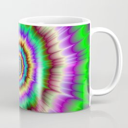 Color Explosion in Violet and Green Coffee Mug