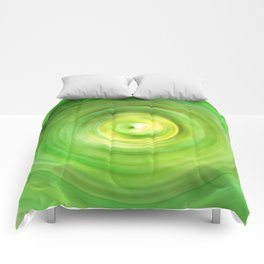 Lime Green Swirls Comforters