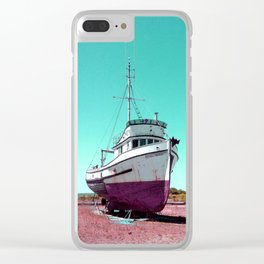 Wooden Boat Troller Fishing Oregon Coast Clear iPhone Case