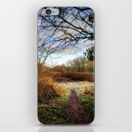 Out of the Woods and Back to the Frosty Path iPhone Skin