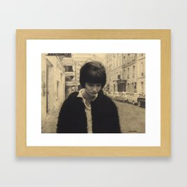 Anna Karina (Vivre Sa Vie) Framed Art Print