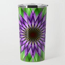 Lavender lotus mandala Travel Mug