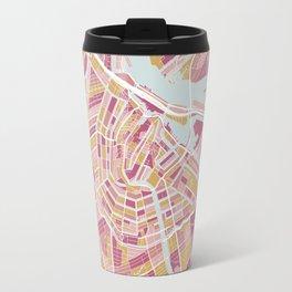 Amsterdam map, Holland Travel Mug