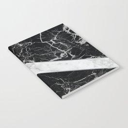 Arrows - Black Granite & White Marble #992 Notebook