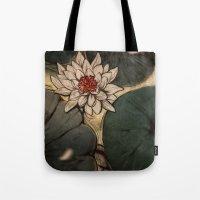 lotus Tote Bags featuring Lotus by Corinne Reid