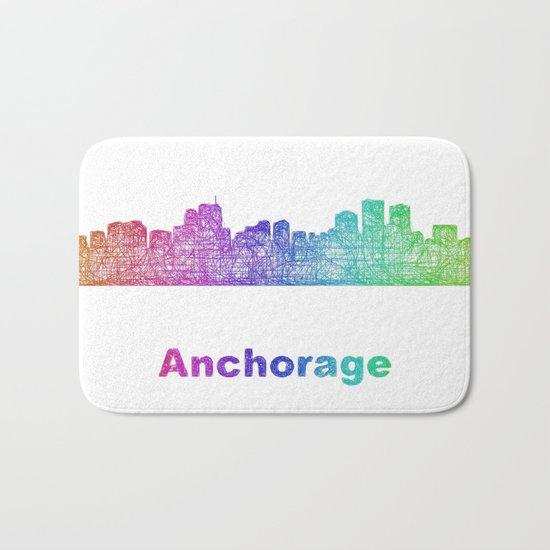 Rainbow Anchorage skyline Bath Mat