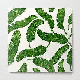 Banana leaves print Metal Print