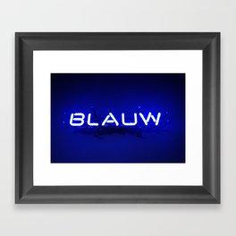 Bruges in blue Framed Art Print