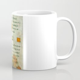 October's Child Birthday Card with Text and Marigolds Coffee Mug