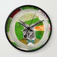 ben giles Wall Clocks featuring Giles 'Jocko' Keyton by ABC ART - Andrew Carter