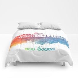 Las Vegas Nevada Skyline colored Comforters