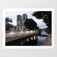 the hunchback of notre dame - seine Art Print