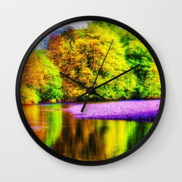 Rainbow Forest | Musical Crime Productions | Digital Manipulation Photography Wall Clock