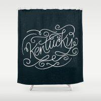 kentucky Shower Curtains featuring KENTUCKY by Matthew Taylor Wilson