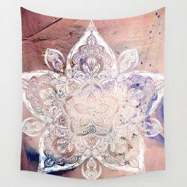 Flower mandala- rose Wall Tapestry