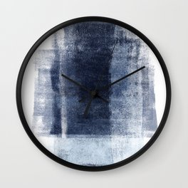 Just Blue and White 2 Wall Clock