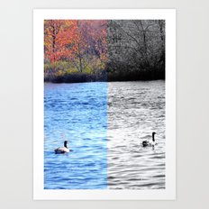 Another day in autumn Art Print