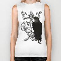 raven Biker Tanks featuring Raven by Кaterina Кalinich