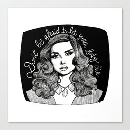 Don't Be Afraid to Let Your Body Die Canvas Print