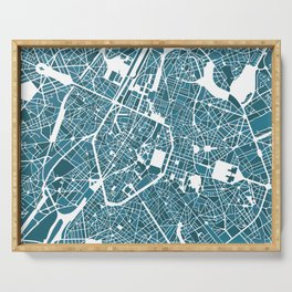 Brussels City Map I Serving Tray