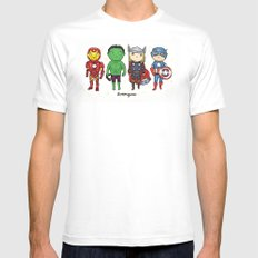 Super Cute Heroes: Avengers! White MEDIUM Mens Fitted Tee