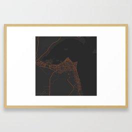 Minimalist Modern Map of kuwait City, Kuwait 4 Framed Art Print