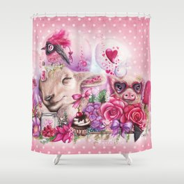 Dreaming of a Sweet Valentine Shower Curtain
