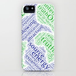 Law of Attraction Word Art iPhone Case