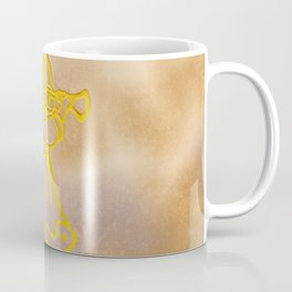 Golden Angel with trumpet Coffee Mug