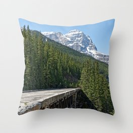 Mountain At My Gate Throw Pillow