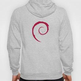 Debian Official Spiral Swirl Logo T-Shirt Hoody