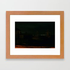 Boats in the Shadows Framed Art Print